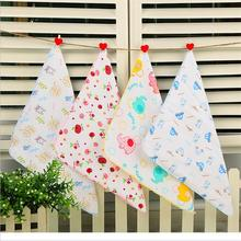(Baby towel 5pcs) muslin cotton baby wipe towel 50*25cm absorbent and soft baby handkerchief for baby girls boys(China)