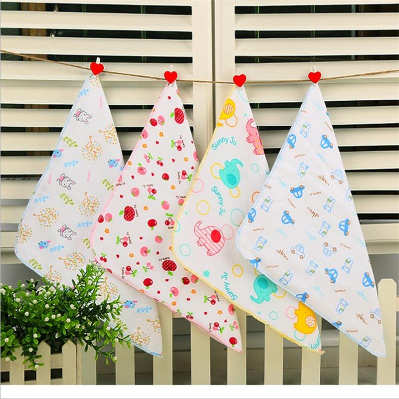 (Baby towel 5pcs) muslin cotton baby wipe towel 50*25cm absorbent and soft baby handkerchief for baby girls boys