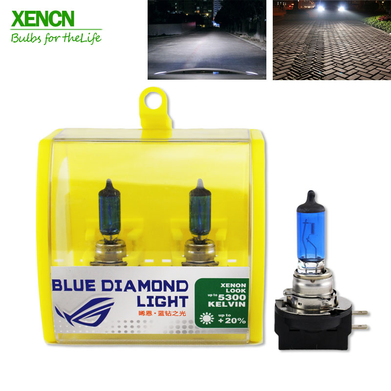 XENCN H11B 12V 55W 5300K Blue Diamond Light Car Bulbs Replace Upgrade Fog Halogen font b