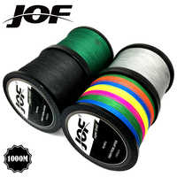 JOF Brand fishing line 1000M PE Multifilament Braided Fish Line 4 Strands 10lb-80lb Carp Fishing Rope Cord fishing tackle