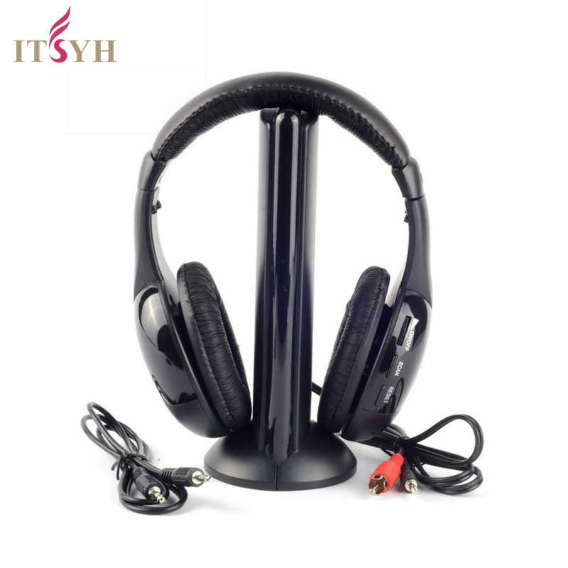 ITSYH Radio Headphone 5-in-1 wireless multi-function headset monitoring FM radio earphone PC Laptop Computer PS3PS4 Xbox TW-699 5 in 1 wireless stereo headset headphone transmitter fm radio for tv dvd mp3 pc l060 new hot