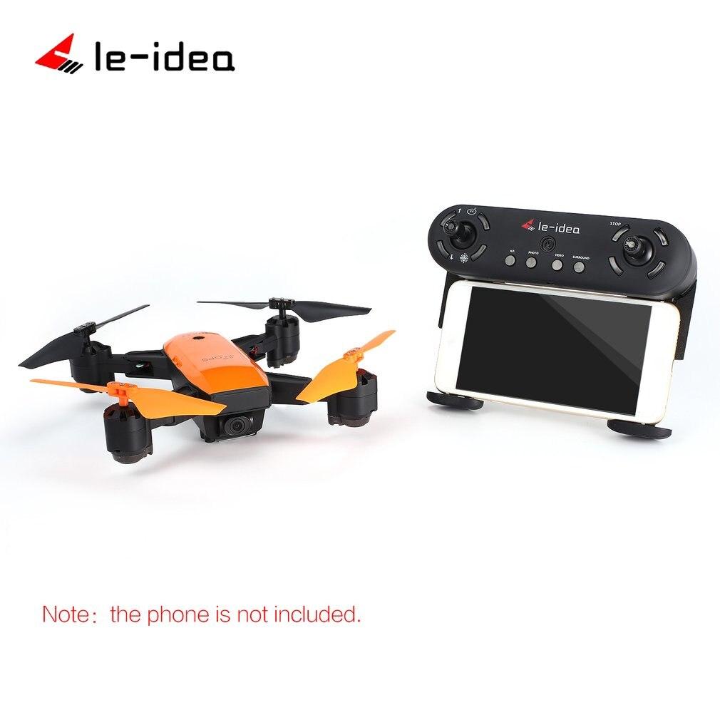 Le-idea IDEA7 2.4G RC Drone Foldable Quadcopter with 720P Wide Angle Wifi Camera GPS Altitude Hold Headless One Key Return HOT! idea7 2 4g rc drone foldable quadcopter with 720p wide angle wifi camera gps headless altitude hold one key return