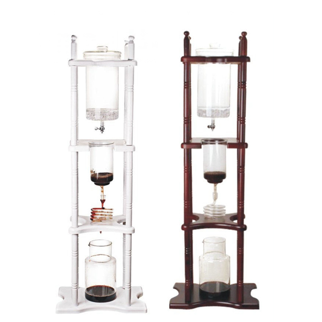 Hot Sell 25 cups ice drip Japanese Style syphon coffee maker Cold Brew/Drip (Dutch) Coffee Maker 25 Cups Heat Resistant Glass