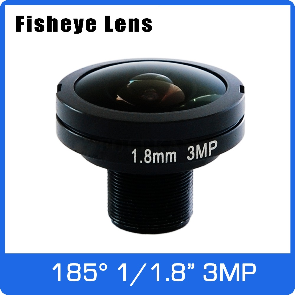 3Megapixel 1/1.8 inch 185 degree Fisheye Lens 1.8mm For 720P/1080P AHD/CVI/TVI/IP CCTV Camera Free Shipping