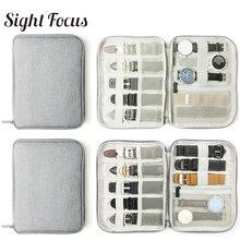 Многофункциональный портативный ремешок для часов, органайзер, коробка для часов, сумка для хранения, держатель для часов, Дорожный Чехол для часов, серый, черный