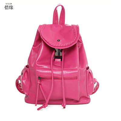 female Fashion Leather student Backpack Women Bags Preppy Style Leisure Backpacks Girls School Bags lady Zipper shoulder bags