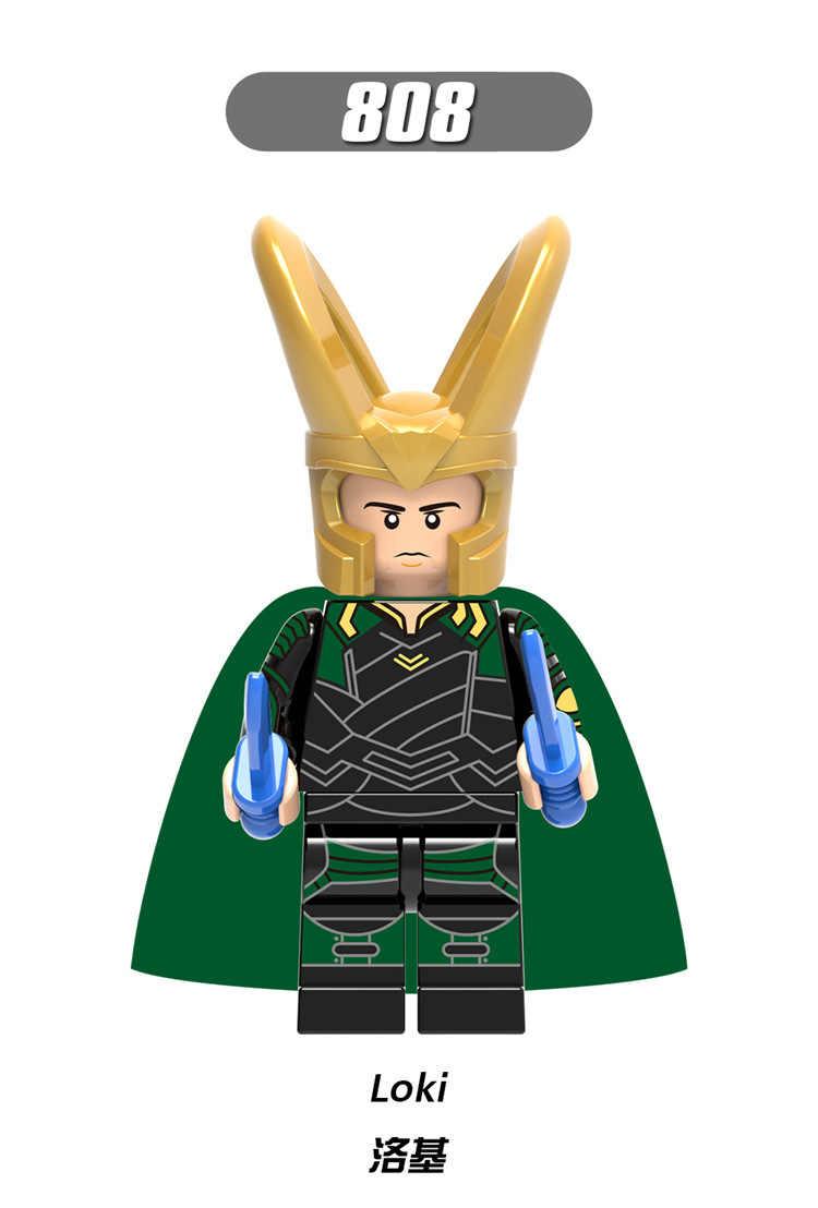X0185 AvengersING LegoINGls personagem da Marvel Raytheon 1-3 Rochoso topázio Hemdar Hella Sultel Valkyrie assassino criança brinquedo Coleção