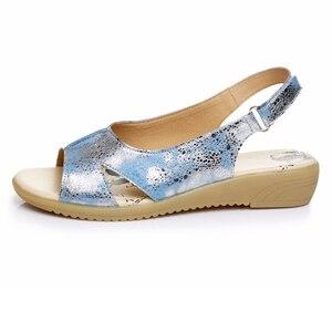 Image 2 - BEYARNE/летние женские босоножки из натуральной кожи; Удобная женская обувь; Сандалии гладиаторы; Женские сандалии на плоской подошве; Модная обувь; 128