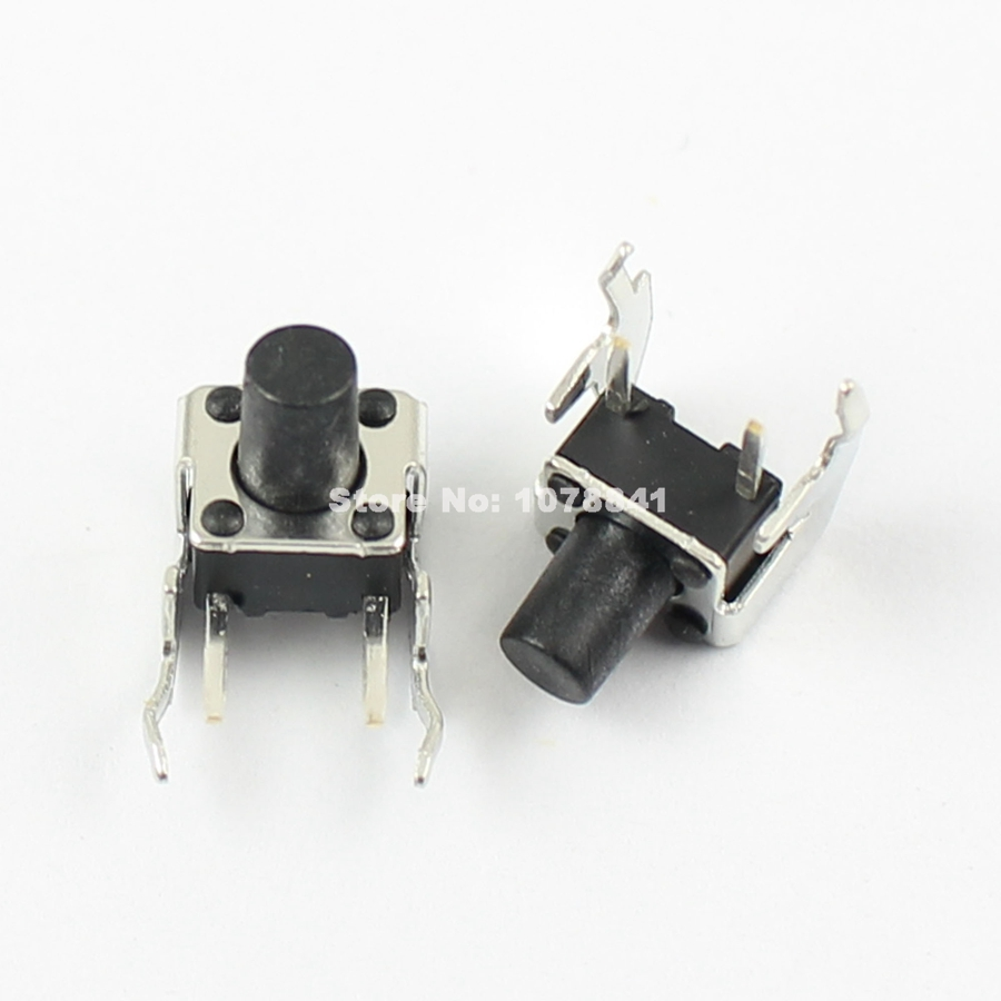 1000 Pcs Per Lot Momentary Tactile Tact Push Button Switch 6x6x8mm Right Angle 2 Pin