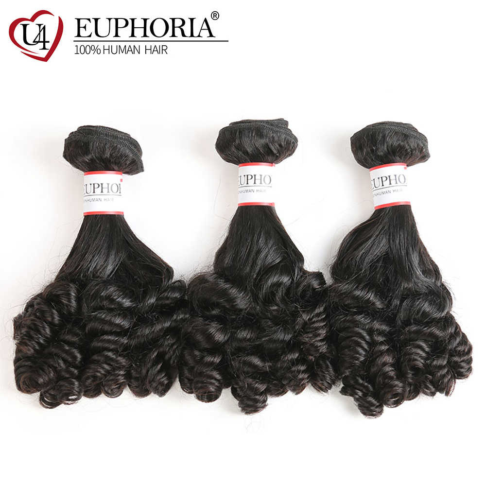 Funmi Curly Human Hair Weave Bundles 8-26inch EUPHORIA Brazilian Natural Color Human Hair Bundle Weaving Remy Hair Extensions
