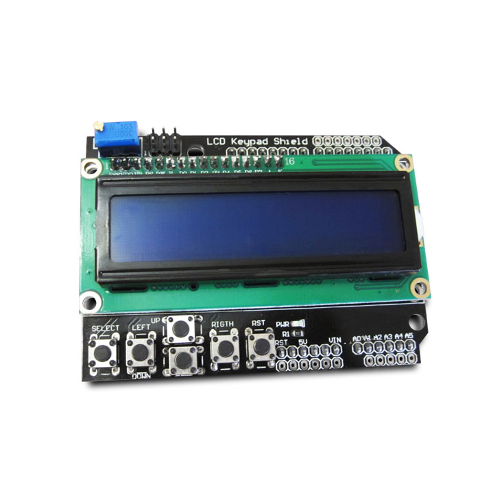 1PCS LCD Keypad Shield LCD1602 LCD 1602 Module Display ATMEGA328 ATMEGA2560 raspberry pi UNO blue screen meeeno iic lcd 1602 blue screen lcd module shield for arduino