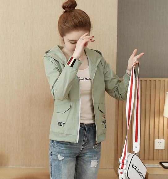 Women's Fashion new Korean version loose wild jacket Outwear baseball uniform short Womens Coat 33