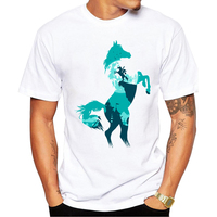 2017 Newest Fashion Super Horse Design Printed T Shirt Fashion Men S Hipster Fitness T Shirts