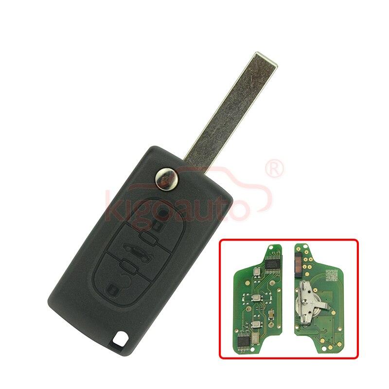 imágenes para CE0523 Tirón la llave alejada de 3 botones HU83 434 Mhz pcf7941 PREGUNTAR para Citroen C2 C3 C5 kigoauto