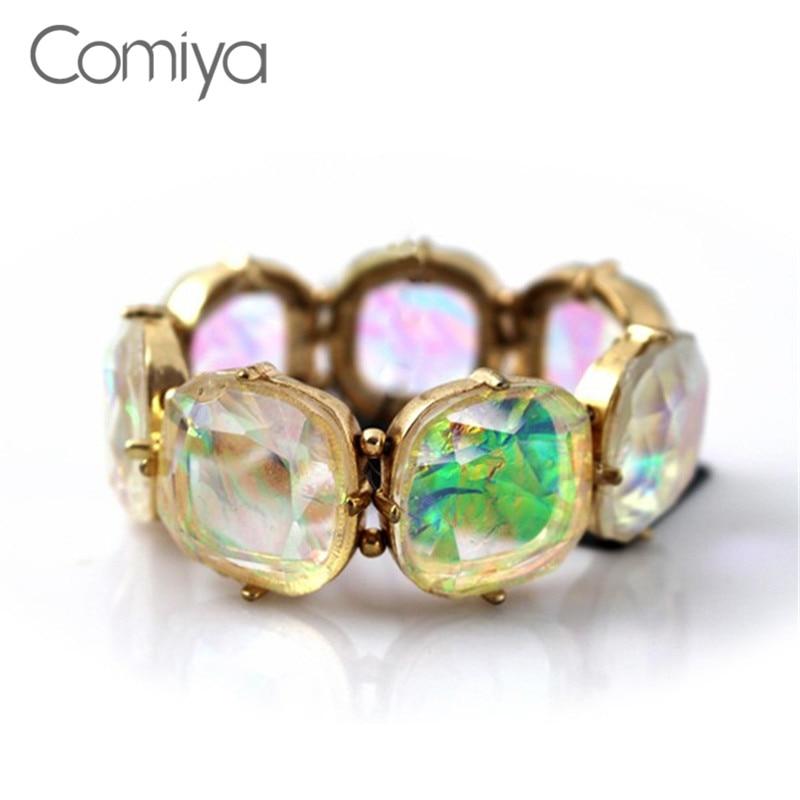 Enamel Charms For Bracelets: Comiya Fashion Indian Jewelry Elastic Rhinestone Enamel