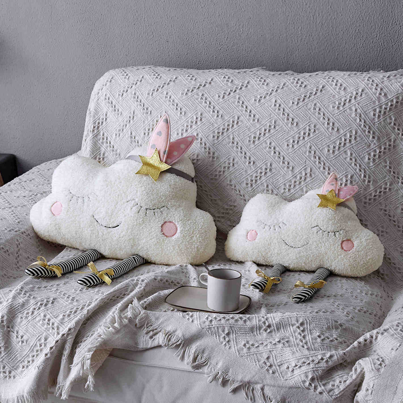 Lovely Smile Clouds Plush Pillows Nordic Style Stuffed Plush Toys Soft Cushion Sofa Pillow Home Bed Decoration Gifts For Girl