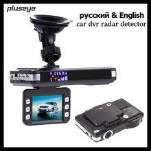 (С русский и английский голос) 2 в 1 видеорегистратор автомобильный радар-детектор 1080 P Автомобильный Камера рекордер автомобиля Detector видео регистратор HD видеокамера