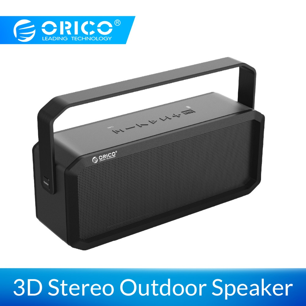 ORICO Outdoor Wireless Speaker Portable Bluetooth Speaker Bass Sound 3D Stereo Music Surround Support Bluetooth AUX TF Card