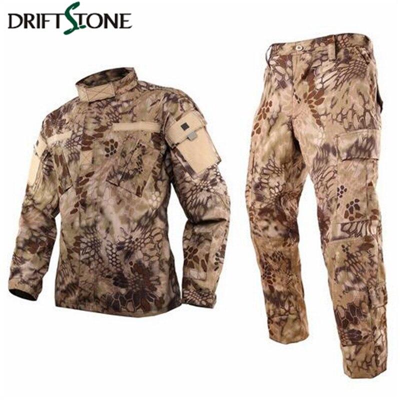 Highlander US militaire BDU uniformes/Kryptek tactique BDU uniformes (veste et pantalon) armée militaire tactique cargo pantalon uniforme