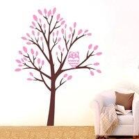 Benutzerdefinierte Farbe Große Dschungel Eule Baum Wandkunst Aufkleber Vinyl aufkleber Home Kids Decor Wandbild DIY Kinderzimmer Wandaufkleber D-56