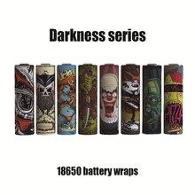 10 шт. 18650 Батарея наклейка обертывание защитная кожа темные серии для электронной сигареты батареи