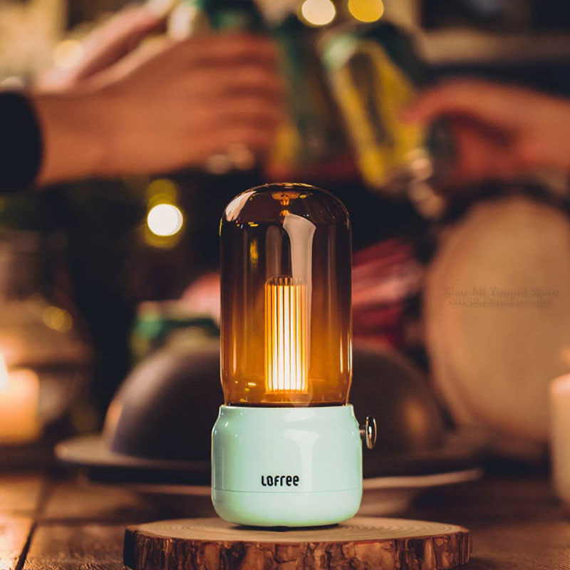 Image 5 - New Xiaomi Mijia Lofree CANDLY Retro Light USB Charging/Charging  Stand Two Light Modes Warm As Ever Warm Surrounding FeelingSmart Remote  Control