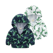 3-8 Years Old Fashion Dinosaur Jacket For Kids Windbreaker Boys Coat Spring Autumn Children Clothing