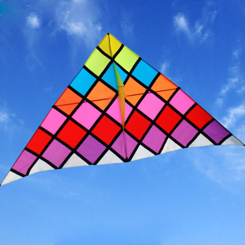 Large 4.8M Rainbow Nylon Kite Magic Box Single Line Delta Kite for Adults Outdoor Sports Fun