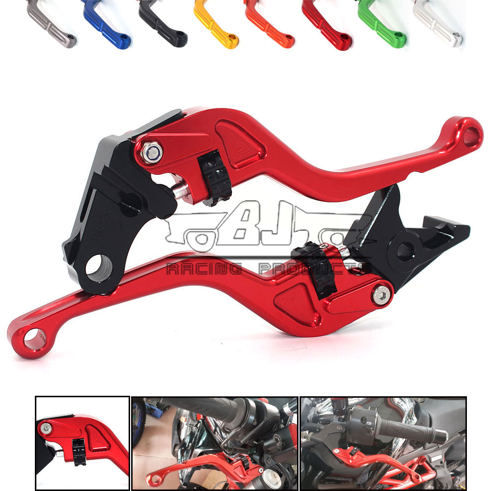 Motorcycle Motorbike 8colors CNC Short Adjustable Clutch Brake Levers For Honda CB1000R 2008-2016 CBR1000RR FIREBLADE 2004-2007 cnc adjustable clutch brake levers set short long 2 style 10 colors fit for kymco downtown 125 200 300 350