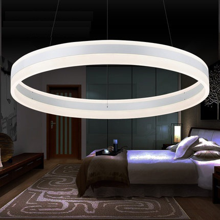 Creative Circular Acrylic Droplight Modern LED Pendant Light Fixtures For Dining Room Simple Hanging Lamp Indoor Lighting new led wall light creative footprint dimming lamp for bedroom dining room lamp acrylic circular sitting room lighting