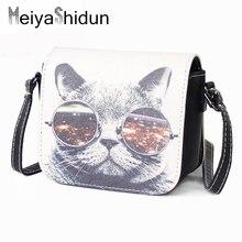 MeiyaShidun mini frauen Handtaschen weibliche Druck messenger bags leder kleine umhängetasche tasche hohe qualität geldbörse dollar preis