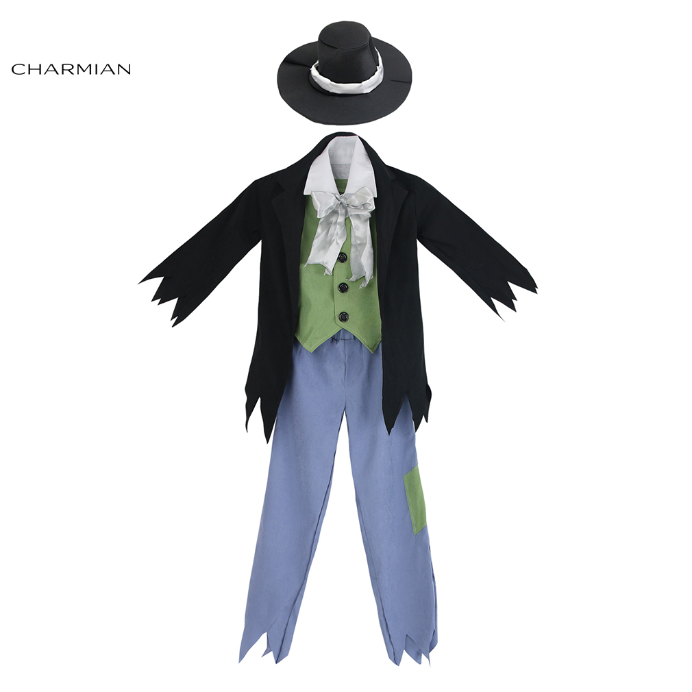 Charmian Boys Cosplay Costumes Victorian Halloween Costume for Kids Fancy Cosplay with Hat Evening Masquerade Party Boy Clothing