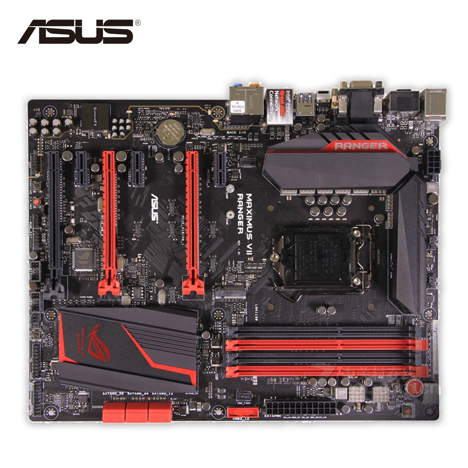Asus MAXIMUS VII RANGER Desktop Motherboard M7R Z97 Socket LGA 1150 i7 i5 i3 DDR3 32G SATA3 ATX Second-hand High Quality материнская плата asus h81m r c si h81 socket 1150 2xddr3 2xsata3 1xpci e16x 2xusb3 0 d sub dvi vga glan matx