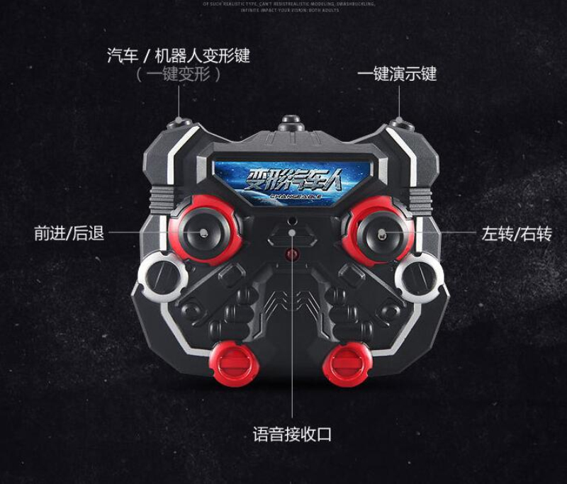 remote control one key demonstration robot and car tt682 2.4G One key  Deformation Voice rc car remote control toys for kid gifts - us840 1abceae68b