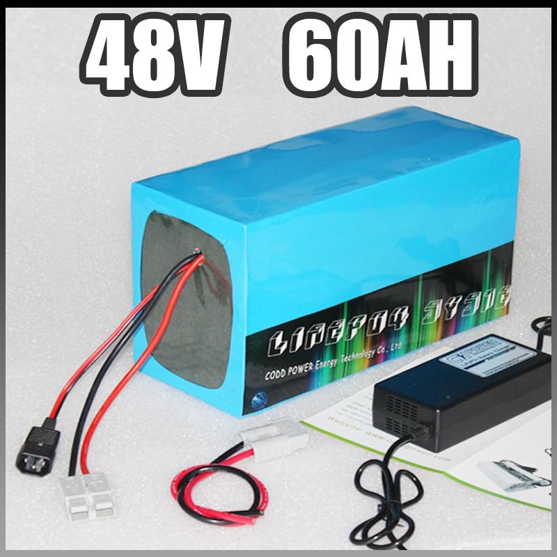 48 v 60Ah batteria elettrica della bici 3000 w 4000 w agli ioni di litio Bicicletta Elettrica Batteria 48 v Samsung ebike batteria