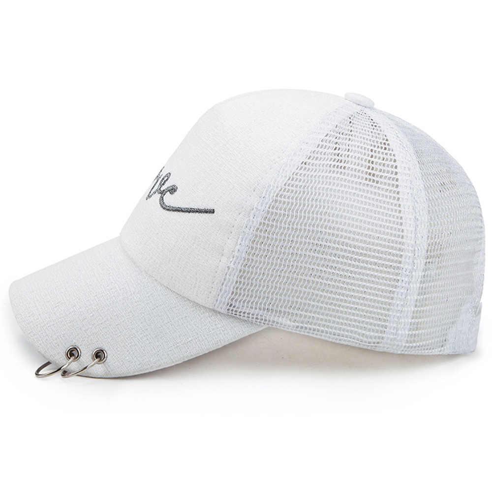 2019 nowy modne czapki kucyk czapka z daszkiem kobiety czarny kapelusz lato na co dzień bawełna Snapback czapki z siatki regulowany