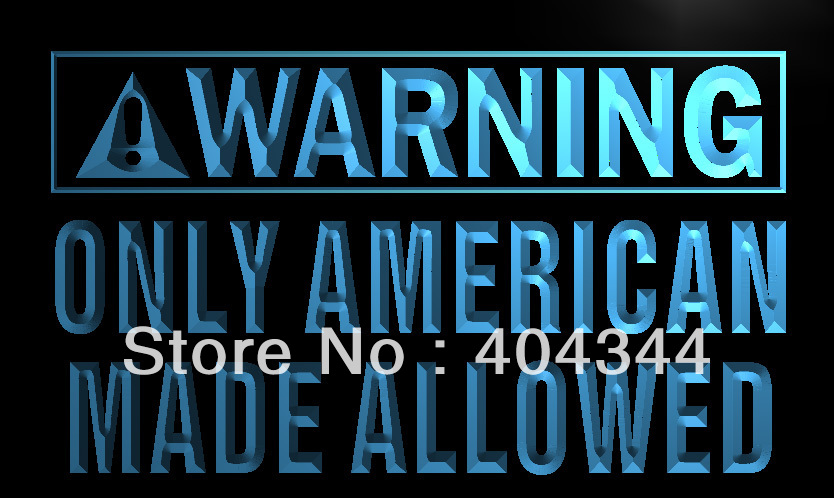 LZ051 Warning Only American Made Allowed Neon Sign Home Decor Shop  Crafts In Plaques U0026 Signs From Home U0026 Garden On Aliexpress.com | Alibaba  Group