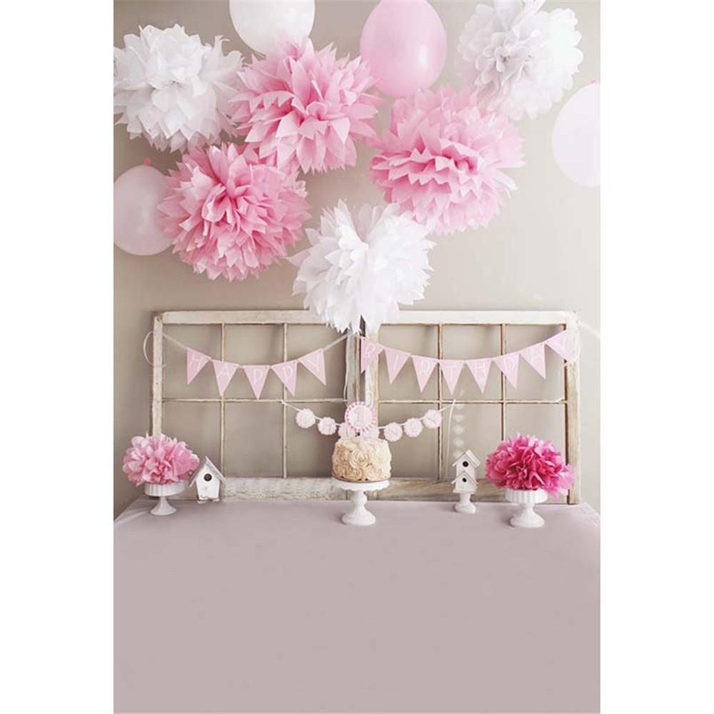 Baby Girl Happy Birthday Photography Backdrops Printed