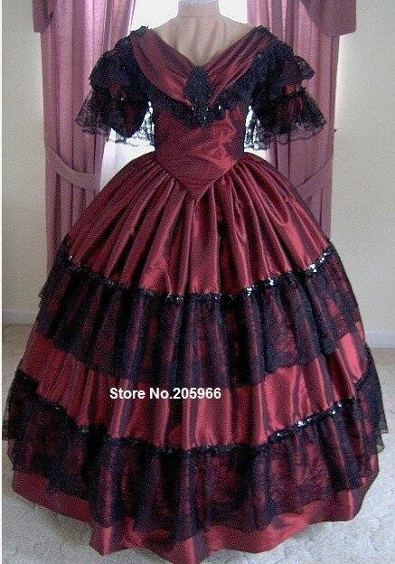 1800 s Abito Vittoriano-1860 s Da Sera Ball Gown-Reenactor Costume di Ballo 6fea28eff04