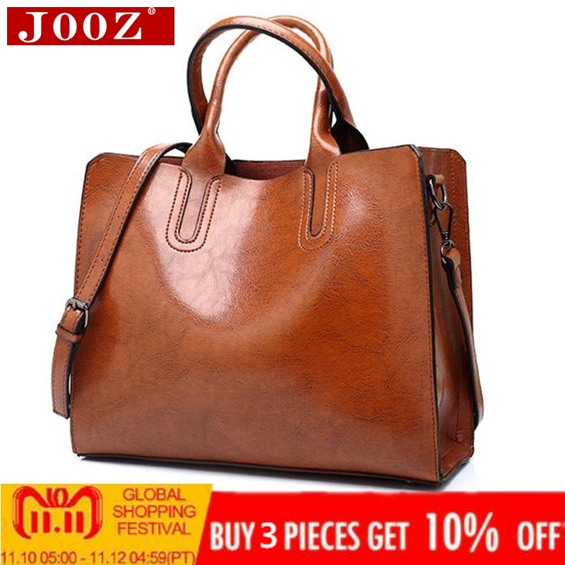 Ladies Oil wax Leather hand bag for Women Famou Brand Trunk Handbags Luxury Designer Femme Casual Tote large Travel Shoulder Bag brand designer large capacity ladies brown black beige casual tote shoulder bag handbags for women lady female bolsa feminina