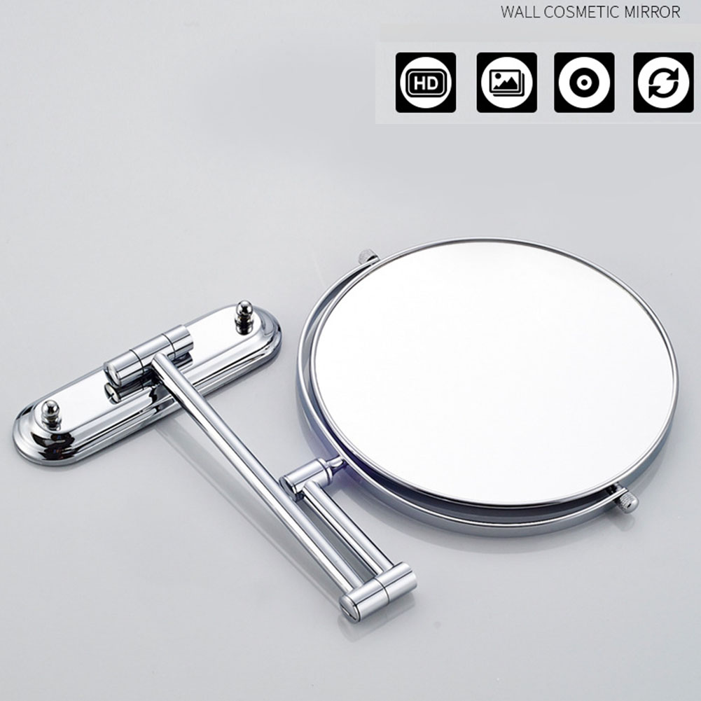 Folding Rotatable Clear Easy Install Shaving Makeup Mirror Round Bathroom Home 10X Magnifying Wall Mount Decorative Double Sided