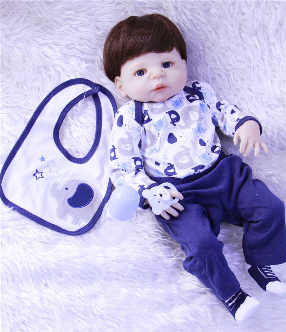 57cm full silicone reborn babies dolls handmade high quality cute newborn infant lifelike partner toy doll Children Best Gifts57cm full silicone reborn babies dolls handmade high quality cute newborn infant lifelike partner toy doll Children Best Gifts
