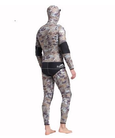 Mannen Hooded Neopreen 5 MM Scuba Nat Duikuitrusting Snorkelen - Sportkleding en accessoires - Foto 3