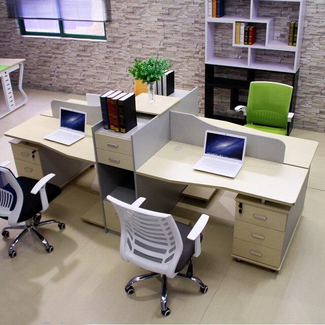 Büromöbel schreibtisch mitarbeiter tische bit 2 deck stühle 4 ...