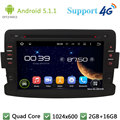 "Quad Core 7 ""1024*600 ponto 5.1.1 2Din Android Car DVD Multimedia Player Rádio FM DAB + 3G/4G WIFI Mapa GPS Para Renault Duster 2012 2013"