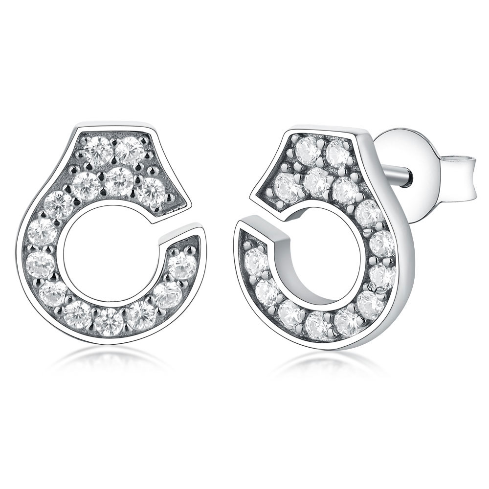2019 France Famous Stud Earrings Authentic 925 Sterling Silver Handcuff Earrings For Women boucles d'oreilles menottes argent(China)