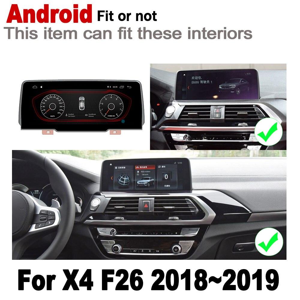מערכת ניווט GPS עבור BMW X4 F26 2018 ~ 2019 EVO IPS אנדרואיד 2 DIN לרכב נגן ניווט GPS Bluetooth מערכת WiFi רדיו סטריאו נגן מולטימדיה המפה (2)