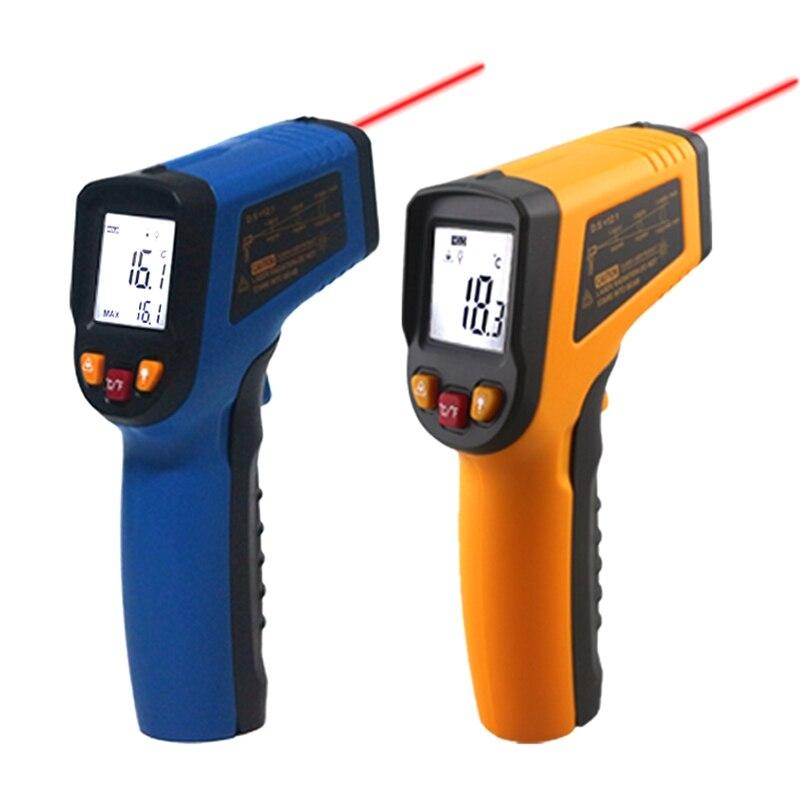 Handheld Pyrometer Laser Não-contato Termômetro Infravermelho IR LCD Digital Medidor de Temperatura Da Superfície Imager C F Backlight-50 ~ 600C