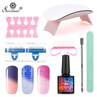 Saviland 10ml Temperature Change Color Gel Varnishes Nail art set Nail Dryer Choose 3 Color Nail Polish With Manicure Toos