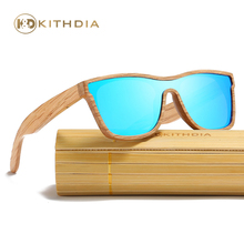 Kithdia Real Natural Wood Sunglasses Polarized Mirror lens With Bamboo Box and Support DropShipping / Provide Pictures #KD205